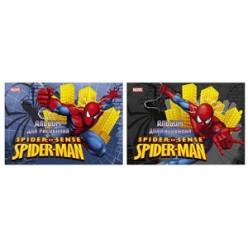 Альбом д/рис А4 16л склейка, обложка картон, офсет 120 г/м2,  выб лак, Spiderman