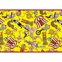 Альбом д/рис А4 08л скрепка, обложка картон, офсет 110 г/м2, Веселый цирк