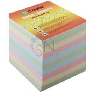 Блок для записи Куб 9*9*9 цветной