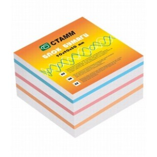 Блок для записи Куб 9*9*5 цветной, Эконом
