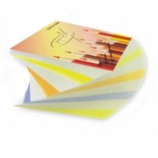 Блок для записи Спираль 9*9*4,5 цветной 2-х цвет.