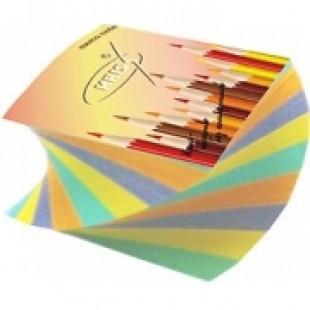 Блок для записи Спираль 9*9*4,5 цветной 4-х цвет.
