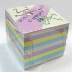 Блок для записи Куб 8*8 750л цветной, проклеенный