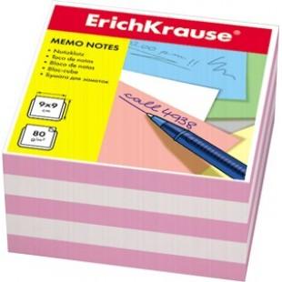 Блок для записи Куб 9*9*5 бело-розовый