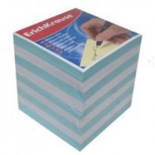 Блок для записи Куб 9*9*9 бело-голубой