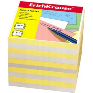 Блок для записи Куб 9*9*9 бело-желтый