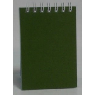 Блокнот А6 070л 105х148 мм, спираль сверху, Зеленый