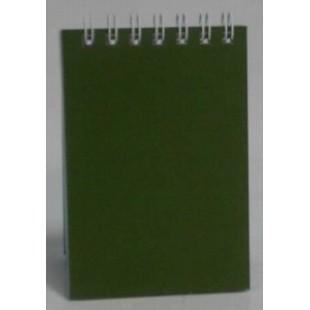 Блокнот А7 070л 100*72, спираль сверху, Зеленый