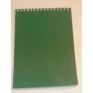 Блокнот А5 070л спираль сверху, Зеленый