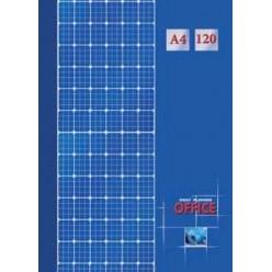 Блокнот А4 120л Бизнес, обл 7БЦ, Клетка на синем, глянц/лам, офсет 60г/м2, клетка