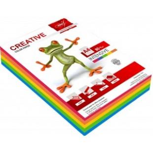 Бумага офисная цветная А4, 250л, 080г/м2, АССОРТИ ИНТЕНСИВ (5цвх50л)