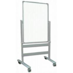 Доска маркерная магнитная 060*090, лаковая поверхность, двустороняя, алюминиевая рама, на подставке
