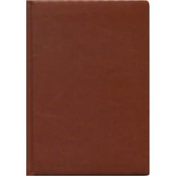 Ежедневник А5 недатир, иск кожа, Виладж.Светло-коричневый, поролон, 256с