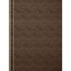 Ежедневник А5 недатир, бумвинил, Коричневый, 272с