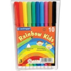 Фломастеры 10цв Centropen Rainbow Kids, блистер