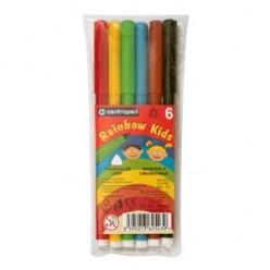 Фломастеры 06цв Centropen Rainbow Kids, блистер