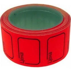 Этикет-лента 25х35мм, красный