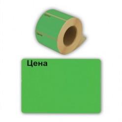 Этикет-лента 50х40мм, зеленый