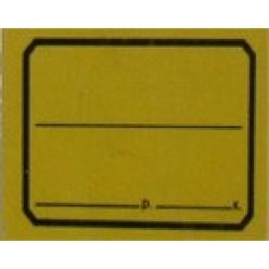Этикет-лента 50х40мм, желтый
