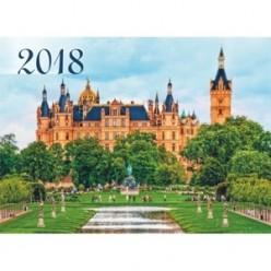Календарь 2018г. квартальный 3х блочный на 3х гребнях, с бегунком, Замок в Германии