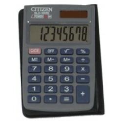 Калькулятор Citizen карман 08р, двойное питание, черный, книжечка, 87х57х11мм