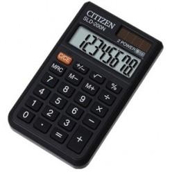 Калькулятор Citizen карман 08р, двойное питание, черный, книжечка, 98*62*8