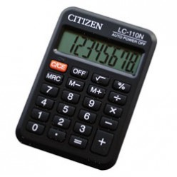 Калькулятор Citizen карман 08р, питание батарейка, черный, книжечка, 88*57*8мм