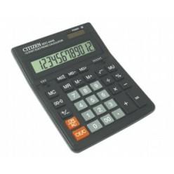 Калькулятор Citizen настол большой 12р, 2-е питание, 2 памяти, черный пластик, коррекция, 199х153х31