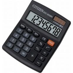 Калькулятор Citizen настол малый 08р, 2-е питание, черный пластик, 131х102х18мм
