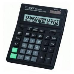 Калькулятор Citizen настол большой 16р, 2-е питание, черный пластик, наценка, 199х153х31