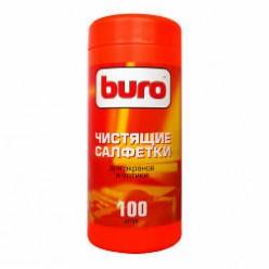 Салфетки чист. для экранов и оптики 100шт BURO (BU-Tscreen)