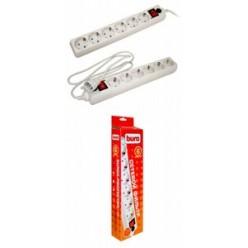 Сетевой фильтр 6 розеток 5м, к/к (600SH-5-W)