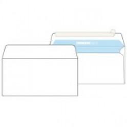 Конверт бумажный, 110х220мм Е65, офсет 080г/м2, стрип, прямой клапан, без запечатки, 1шт