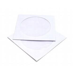 Конверт бумажный, окно 100мм, 125х125мм CD, офсет 080г/м2, декстрин, прямой клапан, 1шт