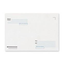 Конверт бумажный, 229х324мм   С4, офсет 090г/м2, стрип, прямой клапан, Куда-Кому, 1шт