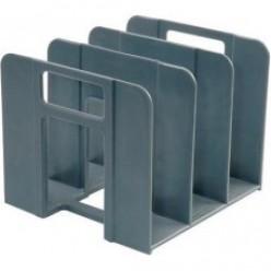 Лоток вертикальный 3секц, EK, для книг и журналов (без передней и задней стенки), светло-серый