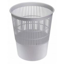 Корзина для мусора 14л, сетчатая, серая
