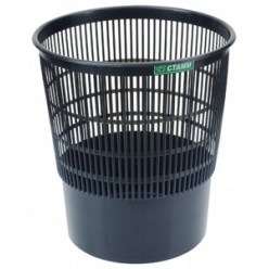 Корзина для мусора 18л, сетчатая, черная