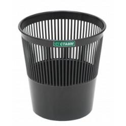 Корзина для мусора 09л, сетчатая, черная