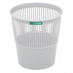 Корзина для мусора 09л, сетчатая, серая
