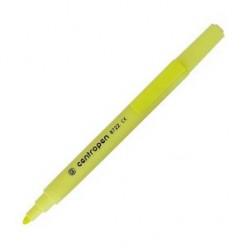 Выделитель текста Centropen Fax, 1-4мм, для любой бумаги, высококонтр., скошенный, желтый