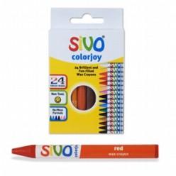 Мелки восковые 24цв SIVO Colorjoy, 90мм