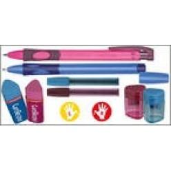 """Набор канцелярский 05 предметов для левшей Stabilo """"Пиши правильно""""розово-зеленый, ручка шариковая,"""