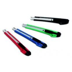 Нож канцелярский 09мм KW-Trio, металлические  направляющие, автофиксатор (3563)