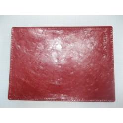 """Обложка для паспорта, натуральная кожа, капли, тиснение """"Passport"""", красная"""