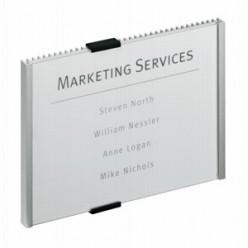 Табличкa информационная настенная DURABLE, серебрянный металик, 210х148,5мм