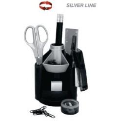 Набор настольный 10 предметов EK Mini Desk ( Silver line), блистер
