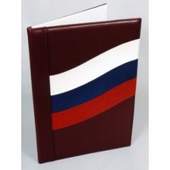 """Папка адресная """"Флаг"""", нат. кожа, бордо"""