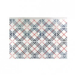 Папка-конверт пластиковая с кнопкой А4, 0.18мм, рисунок клетка, цвет бесцветный (PK801Aclear)