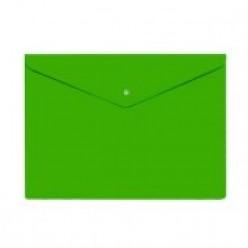 Папка-конверт пластиковая с кнопкой А4, 0.18мм, непрозрачная, цвет зеленый (PK803ANgrn)